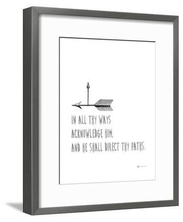 In All Thy Ways-Natasha Wescoat-Framed Giclee Print