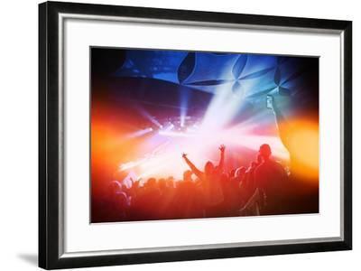 Music Concert. Instagram Effect-soupstock-Framed Art Print