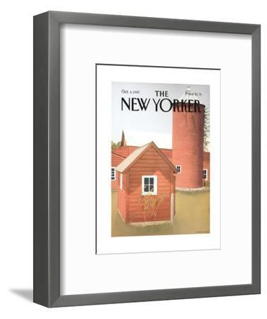 The New Yorker Cover - October 5, 1987-Gretchen Dow Simpson-Framed Premium Giclee Print