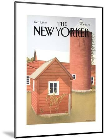The New Yorker Cover - October 5, 1987-Gretchen Dow Simpson-Mounted Premium Giclee Print