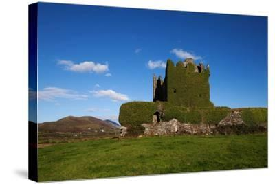 Ballycarberry Castle, Built Circa 16th Century, Near Caherciveen, Ring of Kerry, County Kerry--Stretched Canvas Print