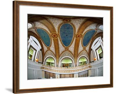 Interior Detail of Tiffany Dome, Marshall Field and Company Building, Chicago, Illinois, USA--Framed Photographic Print