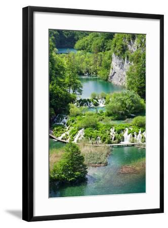 High Angle View of Lakes, Gavanovac Lake, Milanovac Lake, Plitvice Lakes National Park, Croatia--Framed Photographic Print