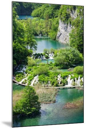 High Angle View of Lakes, Gavanovac Lake, Milanovac Lake, Plitvice Lakes National Park, Croatia--Mounted Photographic Print