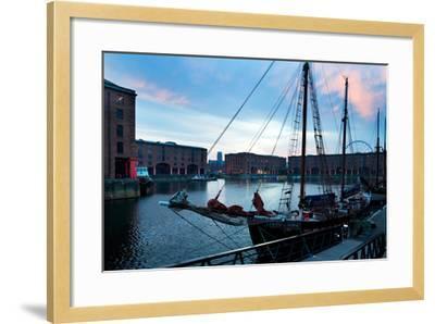 The Albert Dock, Liverpool, Merseyside, England--Framed Photographic Print