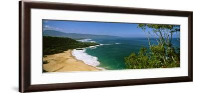 Aerial View of a Beach, North Shore, Oahu, Hawaii, USA--Framed Photographic Print