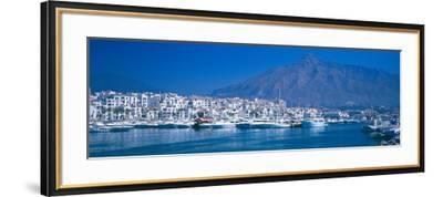 Boats at a Harbor, Puerto Banus, Marbella, Costa Del Sol, Malaga Province, Andalusia, Spain--Framed Photographic Print