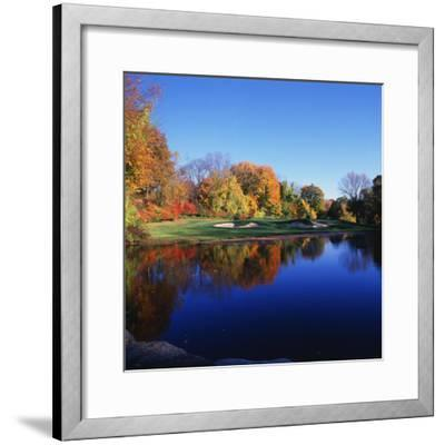Trees in a Golf Course, Patterson Club, Fairfield, Connecticut, USA--Framed Photographic Print
