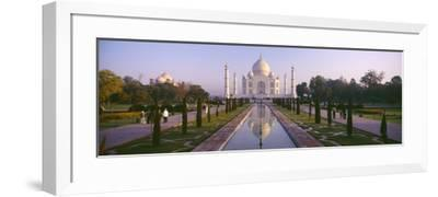 Reflection of a Mausoleum on Water, Taj Mahal, Agra, Uttar Pradesh, India--Framed Photographic Print