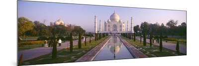 Reflection of a Mausoleum on Water, Taj Mahal, Agra, Uttar Pradesh, India--Mounted Photographic Print