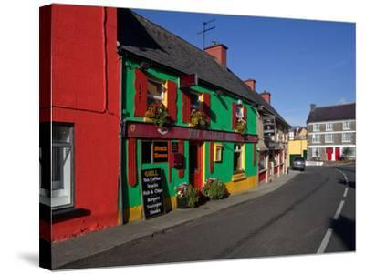 Colourful Cafe in Kilgarvan Village, County Kerry, Ireland--Stretched Canvas Print