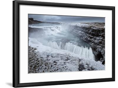 Gullfoss Waterfall, (Golden Falls), Iceland--Framed Photographic Print