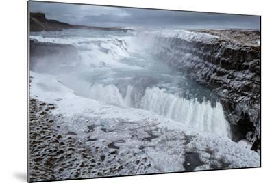 Gullfoss Waterfall, (Golden Falls), Iceland--Mounted Photographic Print