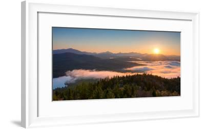 Sunrise over the Adirondack High Peaks from Goodnow Mountain, Adirondack Park, New York State, USA--Framed Photographic Print