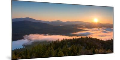 Sunrise over the Adirondack High Peaks from Goodnow Mountain, Adirondack Park, New York State, USA--Mounted Photographic Print