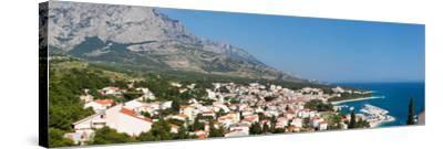 City at Coast, Baska Voda, Biokovo, Split-Dalmatia County, Croatia--Stretched Canvas Print
