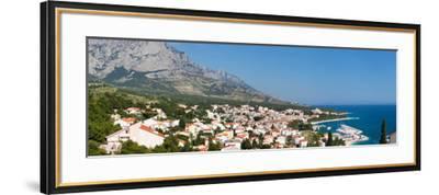 City at Coast, Baska Voda, Biokovo, Split-Dalmatia County, Croatia--Framed Photographic Print