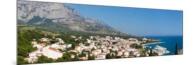 City at Coast, Baska Voda, Biokovo, Split-Dalmatia County, Croatia--Mounted Photographic Print