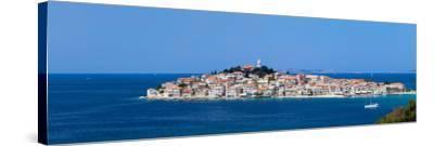 Town on a Coast, Primosten, Adriatic Coast, Dalmatia, Croatia--Stretched Canvas Print