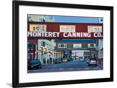 Cannery Row Area at Dawn, Monterey, California, USA--Framed Photographic Print