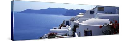 Town on an Island, Oia, Santorini, Cyclades Islands, Greece--Stretched Canvas Print
