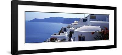 Town on an Island, Oia, Santorini, Cyclades Islands, Greece--Framed Photographic Print