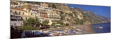 Houses in the Village on a Hill, Spiaggia Di Marina Grande, Positano, Amalfi Coast, Italy--Mounted Photographic Print