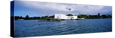 Uss Arizona Memorial, Pearl Harbor, Honolulu, Hawaii, USA--Stretched Canvas Print