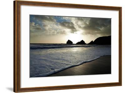 Sunset on Ballydowane Beach, Bunmahon, County Waterford, Ireland--Framed Photographic Print