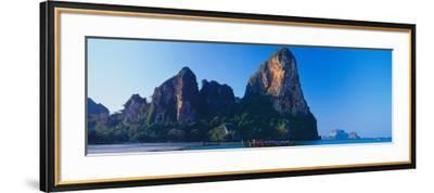 Cliff on the Beach, Railay Beach, Krabi, Krabi Province, Thailand--Framed Photographic Print