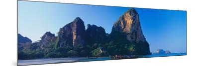 Cliff on the Beach, Railay Beach, Krabi, Krabi Province, Thailand--Mounted Photographic Print