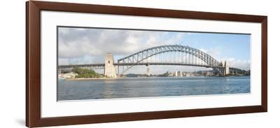 View of Sydney Harbour Bridge from Sydney Opera House, Sydney, New South Wales, Australia--Framed Photographic Print