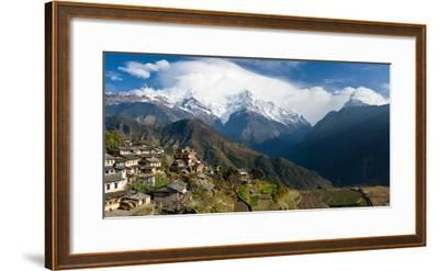 Houses in a Town on a Hill, Ghandruk, Annapurna Range, Himalayas, Nepal--Framed Photographic Print