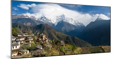 Houses in a Town on a Hill, Ghandruk, Annapurna Range, Himalayas, Nepal--Mounted Photographic Print