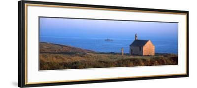 Chapel on the Coast, Saint-Samson Chapel, Portsall, Finistere, Brittany, France--Framed Photographic Print