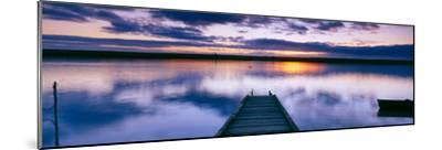 Reflection of Clouds on Water, Chesil Beach, Portland, Dorset, England--Mounted Photographic Print