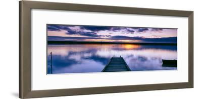 Reflection of Clouds on Water, Chesil Beach, Portland, Dorset, England--Framed Photographic Print