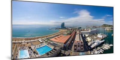 High Angle View of Harbor, Barcelona, Catalonia, Spain--Mounted Photographic Print