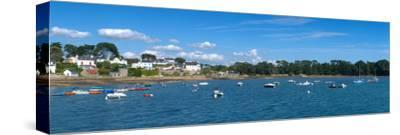 Village of Larmor-Baden, Gulf of Morbihan, Morbihan, Brittany, France--Stretched Canvas Print
