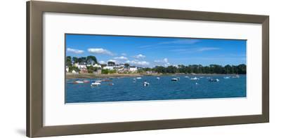 Village of Larmor-Baden, Gulf of Morbihan, Morbihan, Brittany, France--Framed Photographic Print