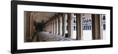Corridor at a Palace, Doge's Palace, Venice, Veneto, Italy--Framed Photographic Print