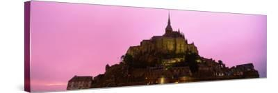 Cathedral on an Island, Mont Saint-Michel, Normandy, France--Stretched Canvas Print