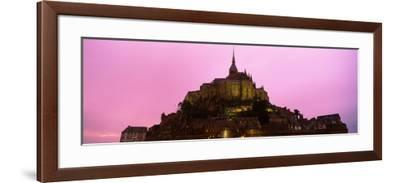 Cathedral on an Island, Mont Saint-Michel, Normandy, France--Framed Photographic Print