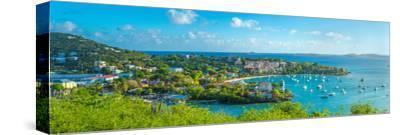 Boats at a Harbor, Cruz Bay, St. John, Us Virgin Islands--Stretched Canvas Print