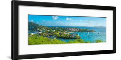 Boats at a Harbor, Cruz Bay, St. John, Us Virgin Islands--Framed Photographic Print