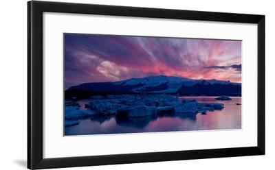 Icebergs in a Glacial Lake, Jokulsarlon Lagoon, Iceland--Framed Photographic Print