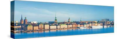 Buildings at Waterfront, Gamla Stan, Stockholm, Sweden--Stretched Canvas Print