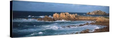 Rocks in the Sea, Le Diben, Morlaix Bay, Finistere, Brittany, France--Stretched Canvas Print