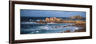 Rocks in the Sea, Le Diben, Morlaix Bay, Finistere, Brittany, France--Framed Photographic Print