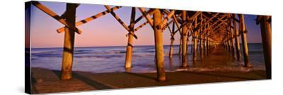 Pier over the Ocean, Folly Beach Fishing Pier, Folly Beach, Folly Island, Charleston County--Stretched Canvas Print